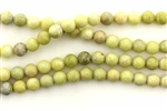 "Gemstone Bead, Lemon ""Jade"", Round, 6MM"