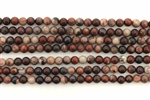 Gemstone Bead, Red Artistic Jasper, Round, 4MM