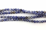 Gemstone Bead, Denim Lapis, Round, 4MM