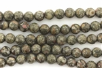 Bead, Gemstone, Gray Leopard Skin Jasper, Round, 8MM