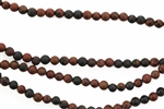 Gemstone Bead, Mahogany Obsidian, Matte Finish, Round, 4MM