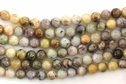 Gemstone Bead, Gray Dendrite Opal, Round, 6MM