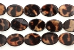 Mother Of Pearl / Browns 24MM Flat Oval