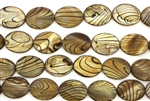 Mother Of Pearl / Brown 20MM Flat Oval