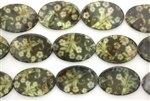 Mother Of Pearl / Green 30MM Flat Oval