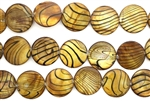 Mother Of Pearl / Brown 20MM Flat Round