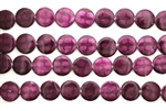 Mother Of Pearl / Dark Fuschia 13MM Flat Round