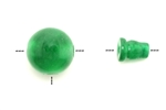 "Bead, Gemstone, Buddha, Guru, Green ""Jade"", 19MM"