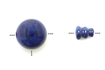 "Bead, Gemstone, Buddha, Guru, Denim ""Fossil"" Stone, 18MM"
