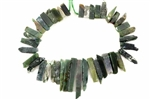Gemstone Bead, Fancy Jasper, India Agate, 50MM, Graduated Stick, Slab
