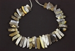 Gray Banded Agate Gemstone Bead / Graduated Stick,Slab