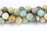 Gemstone Bead, Black Amazonite, Round, 12MM
