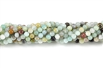 Gemstone Bead, Black Amazonite, Round, 4MM