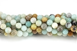 Gemstone Bead, Black Amazonite, Round, 6MM