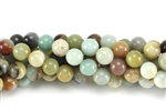 Gemstone Bead, Black Amazonite, Round, 8MM