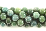 Gemstone Bead, Moss Agate, Round, 8MM
