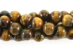 Gemstone Bead, Tiger Eye, Round, 10MM