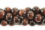 Gemstone Bead, Red Tiger Eye, Round, 10MM