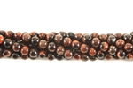 Gemstone Bead, Red Tiger Eye, Round, 4MM