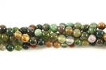 Bead, Gemstone, Fancy Jasper, India Agate, Round, 4MM