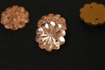 Vintage West German Sew On Rhinestone / Faceted Flower 15MM