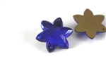 Vintage West German Sew On Rhinestone / Cobalt Star 20MM