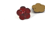 Vintage West German Sew On Rhinestone / Faceted Flower Ruby 18MM