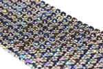 Vintage West German Rhinestone Banding / 11 Row Blue Iris