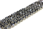 Vintage West German Rhinestone Banding / 4 Row Blue