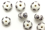 Evil Eye, Bead, 13MM, Rondelle, White, Black