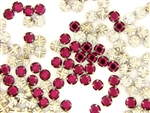 Vintage Swarovski Rose Montee / Cranberry 7MM
