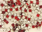Vintage West German Rose Montee / Square Ruby 5.7MM