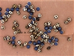 Vintage Czechslovakian Rose Montee / Dark Blue 5.2MM