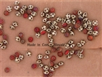 Vintage Czechslovakian Rose Montee / Red 5.2MM
