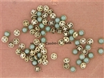Vintage Czechslovakian Rose Montee / Pale Blue Green 5.2MM