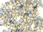 Vintage Czechoslovakian Rose Montee / Light Sapphire Square 5.7MM
