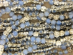 Vintage Rose Montee 5.4MM / Moonstone Light Blue