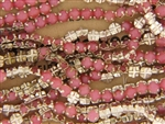 Vintage Rose Montee 5.4MM / Moonstone Pink