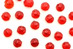 Vintage Nailhead / Faceted Round 5.7MM Red