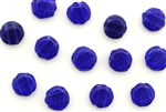 Vintage Nailhead / Flat Round 2 Hole 7MM Blue