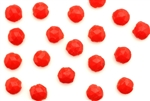 Vintage Nailhead / Faceted Round 5.5MM Red