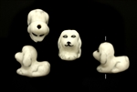 Porcelain Beads / Dog 18MM White