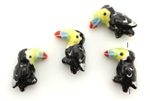 Porcelain Beads / Toucan 21MM Jet