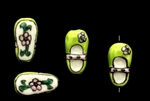 Porcelain Beads / Slipper Light Green 20MM