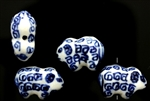 Porcelain Beads / Ram 24MM Blue