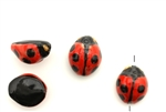 Porcelain Beads / Ladybug 17MM Red