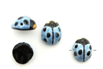 Porcelain Beads / Ladybug 17MM Blue