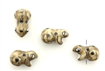 Porcelain Beads / Toad 19MM Brown