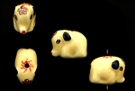 Porcelain Beads / Elephant 15MM Beige
