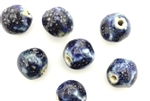 Porcelain Beads / Heart Dark Blue 27MM